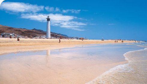 Lighthouse on Jandia beach in Fuerteventura