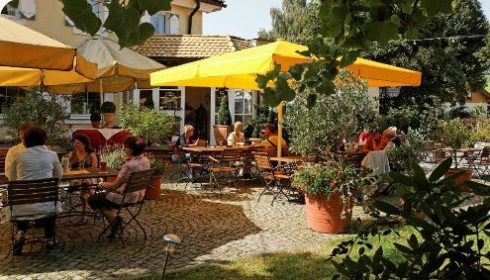 Bavarian Forest - our hotel patio