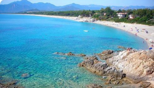 single parent beach holiday, beach in Sardinia, summer holiday in Italy