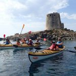 single parent family holidays in Sardinia in August 2017 - kayaking