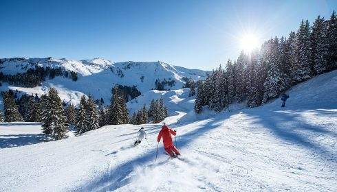 single parent skier in Kitzbühel Austria