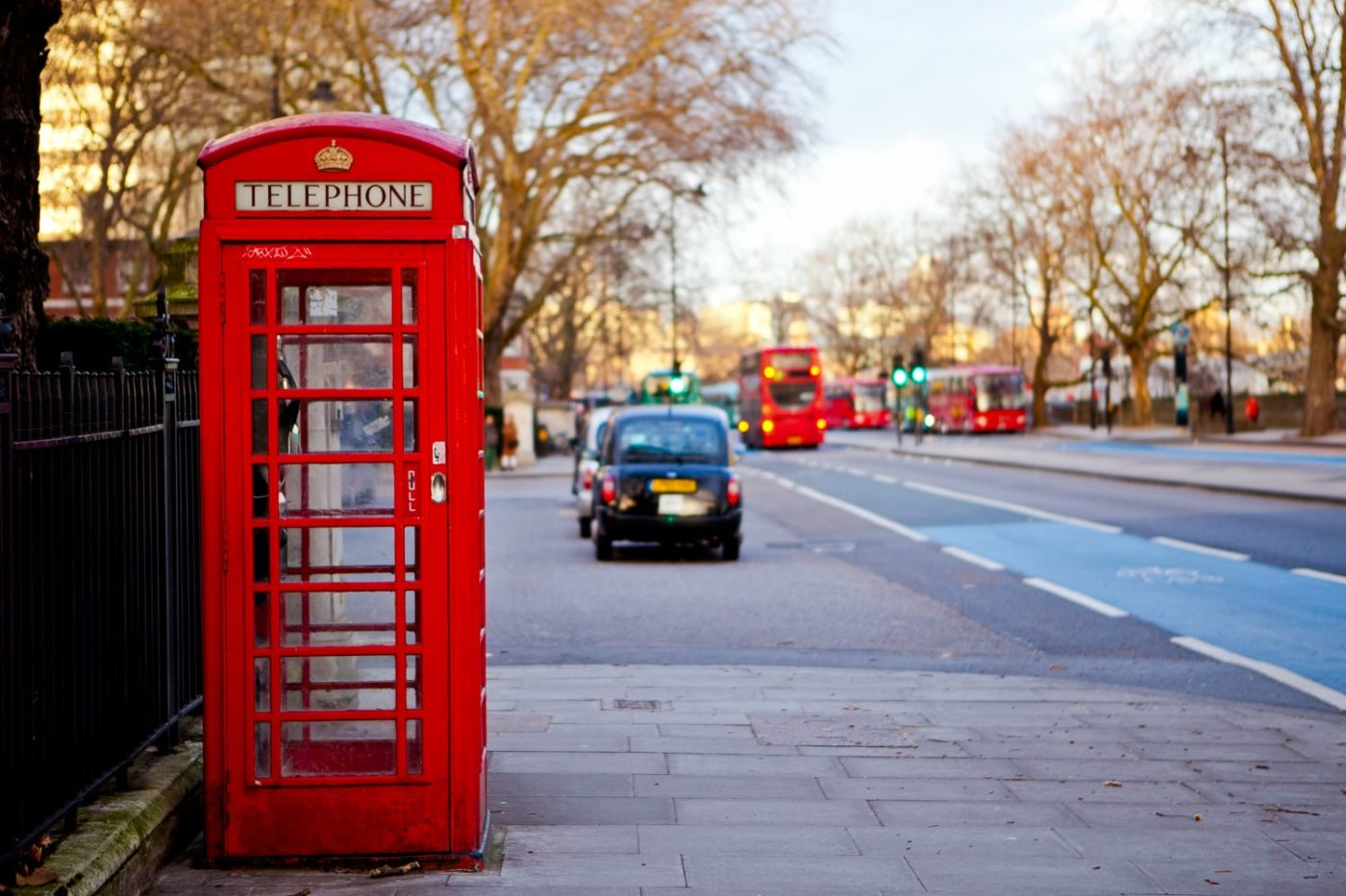 red telephone box walking tour in London with kids