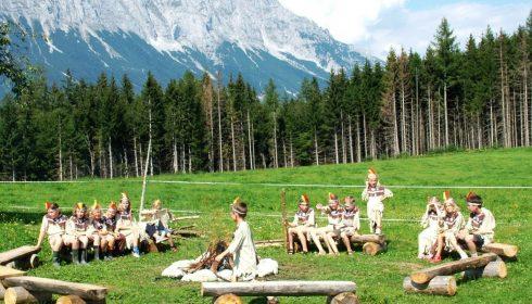 single parent farm holiday in Austria - Indianertag