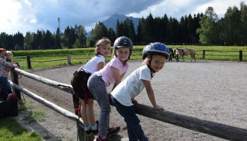 single parent farm holiday in Austria - horses