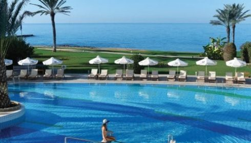 single parent holiday in Cyprus - pool landscape