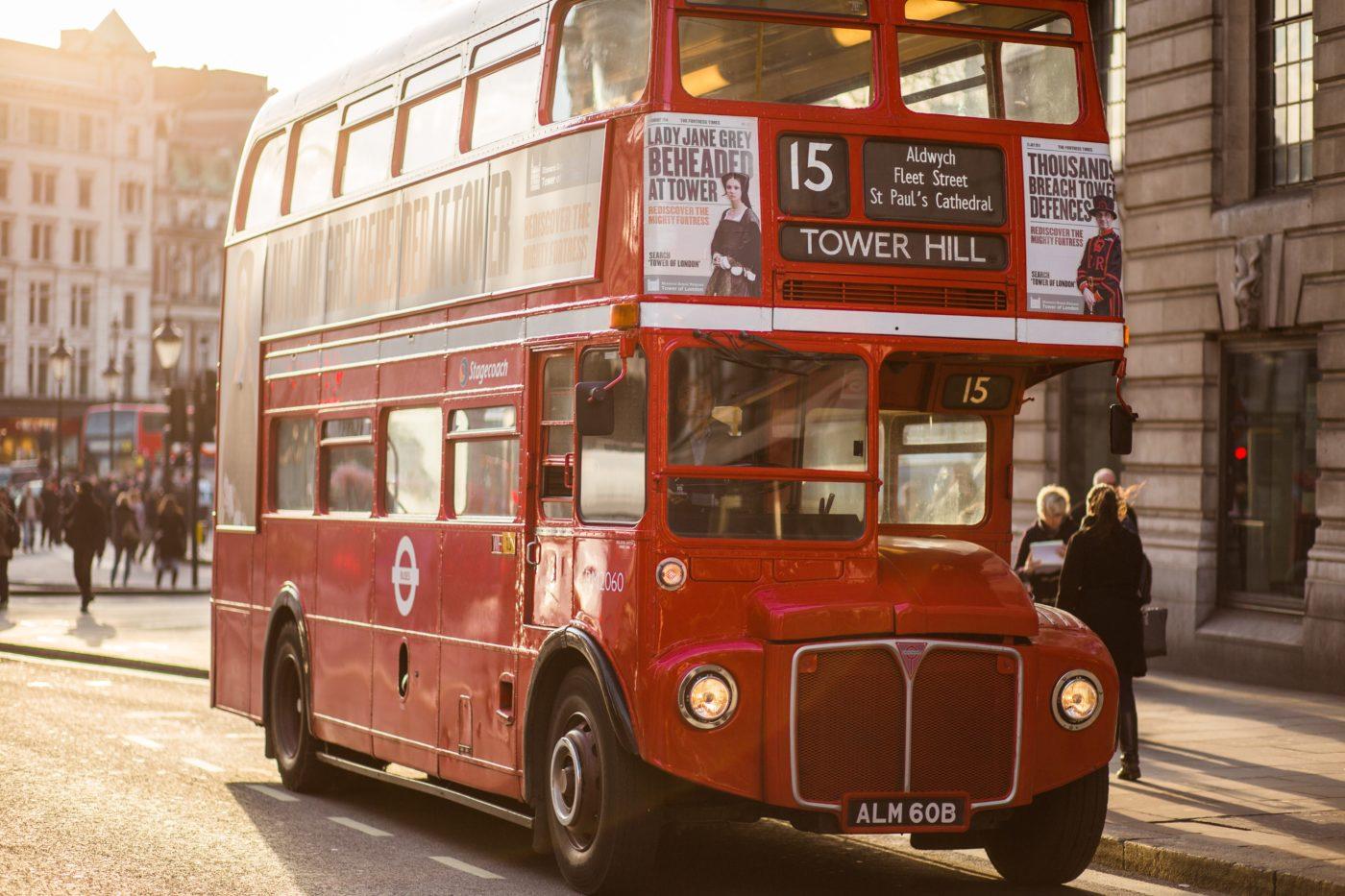 City break in London by double decker bus