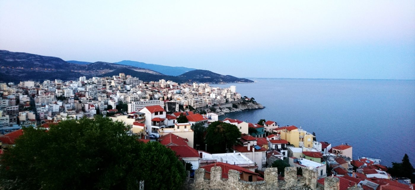 Thassos town on the Greek island of Thassos