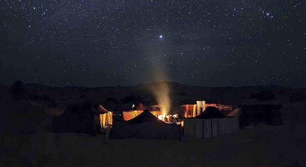 desert tours from Marrakech - star gazing at night