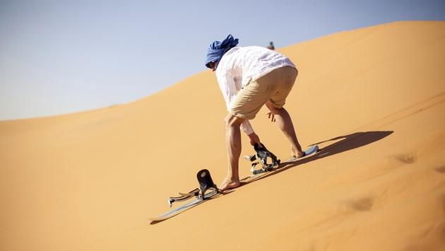 Dsert tours from Marrakech - sand surfing