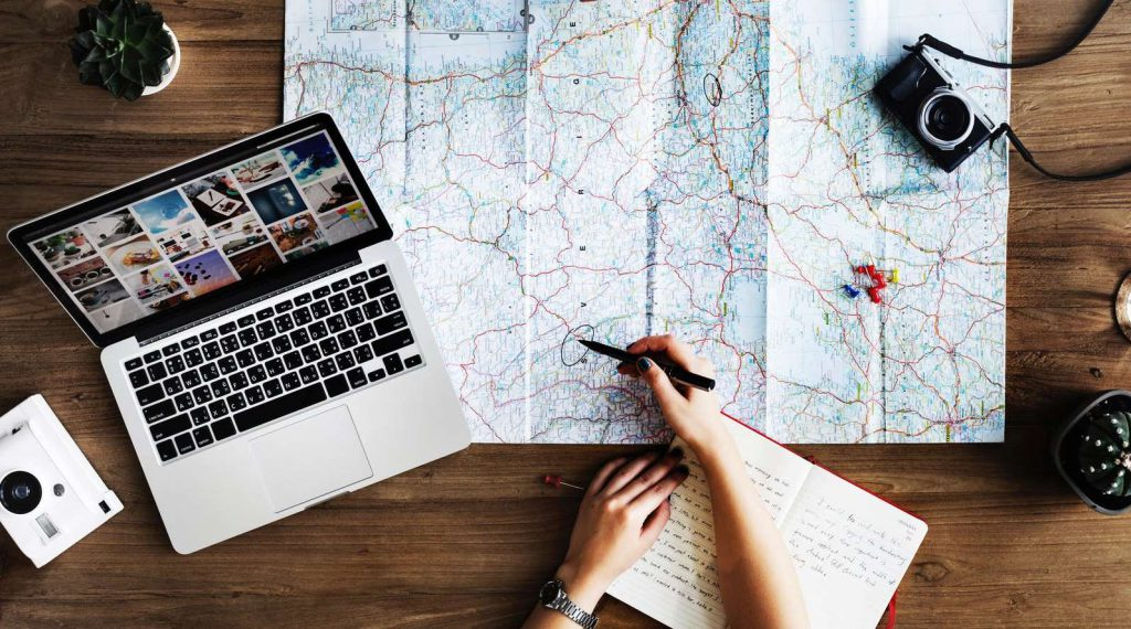 planning where to go on holiday with kids