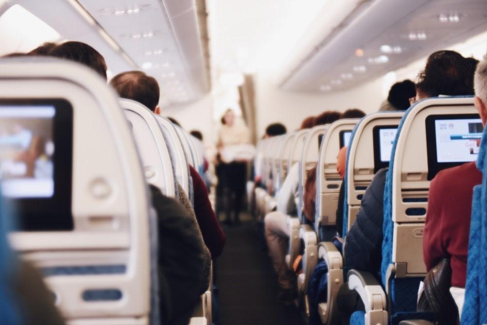 seats on an aeroplane on a long haul flight