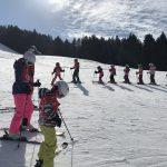 kids at ski school