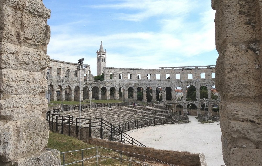 visit Croatia - amphitheatre in Pula