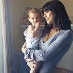 single mum and baby