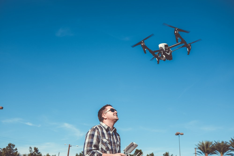 fun things to do with kids - dad flying drone