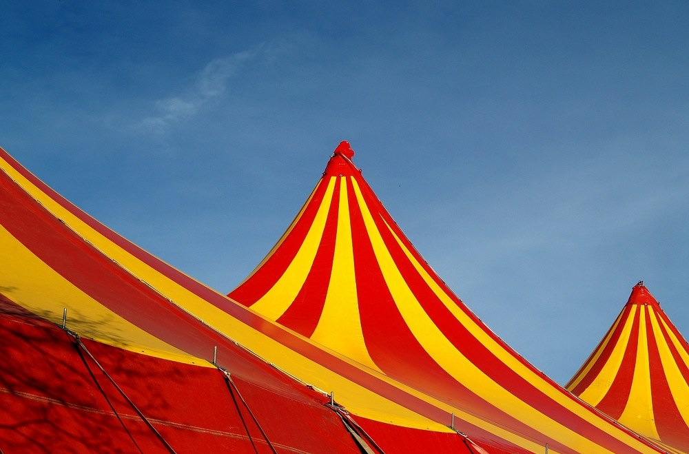 fun things to do with kids - circus tent