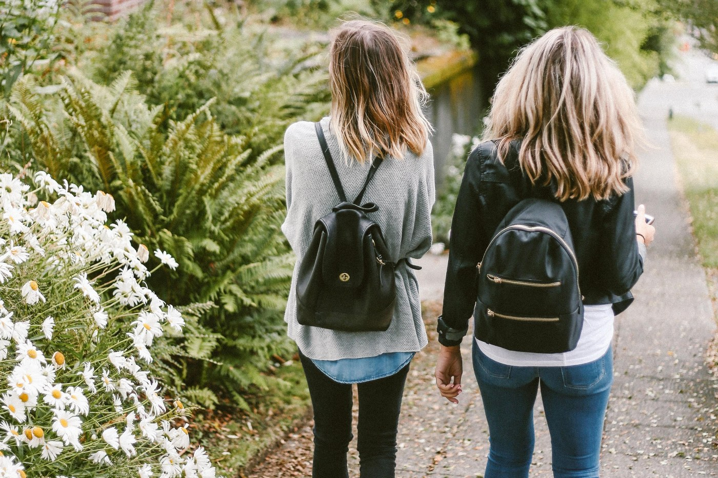 single parent holidays with teenagers - girls walking on country lane