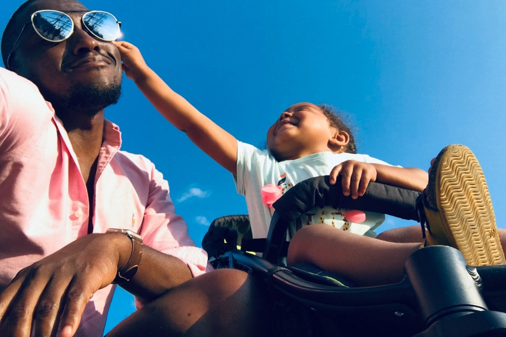 SINGLE PARENT STATISTICS - dad with toddler in pushchair