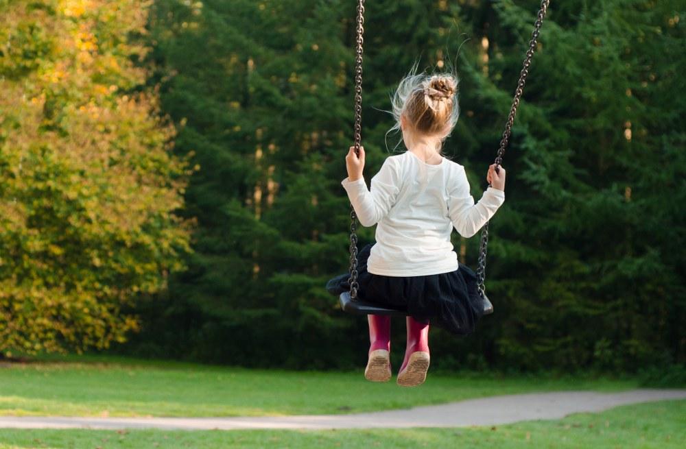 family activity - girl on swing