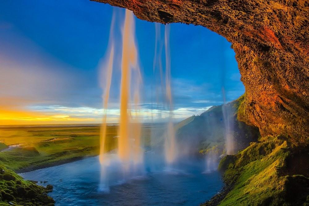 adventure vacation - Skogafoss waterfall