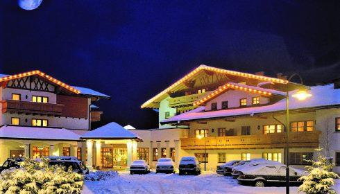hotel Lisi in Reith near Kitzbühel Austria at night