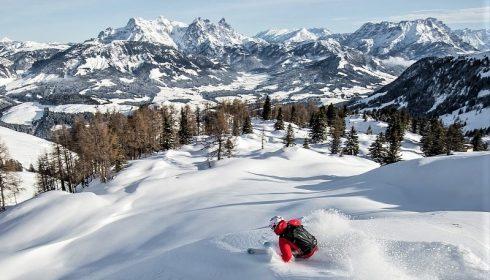 off piste skier on solo ski holiday in Austria's Kitzbühel