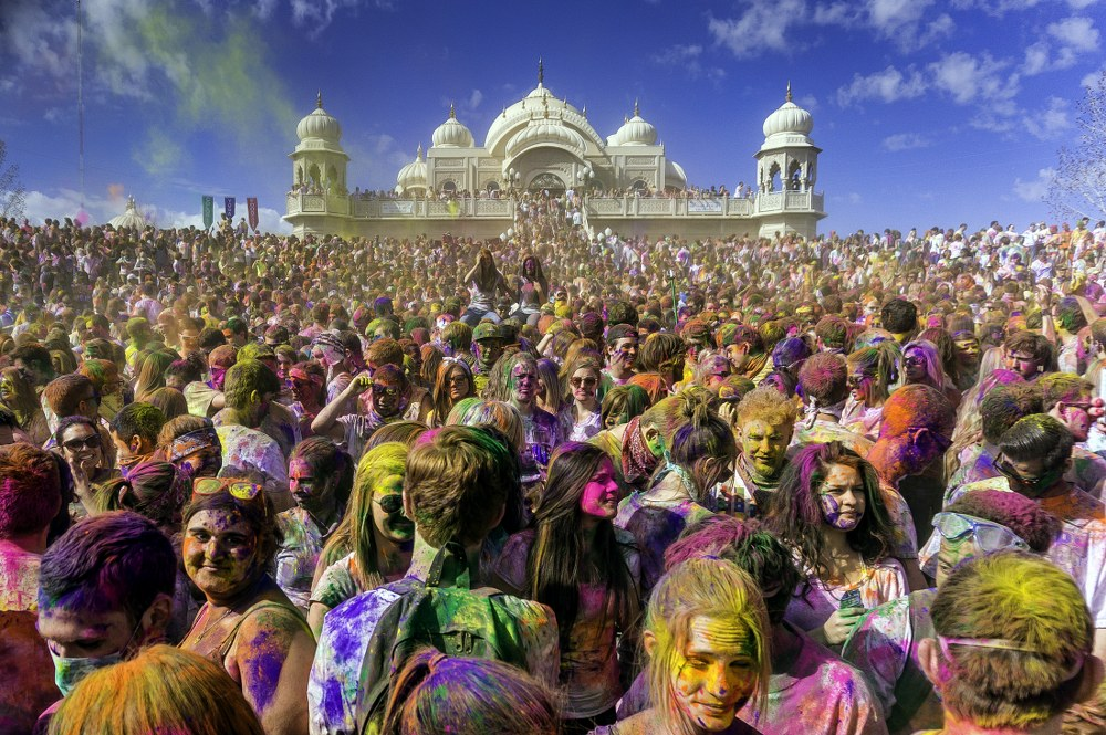 Holi festival in India - celebration in Utah, USA