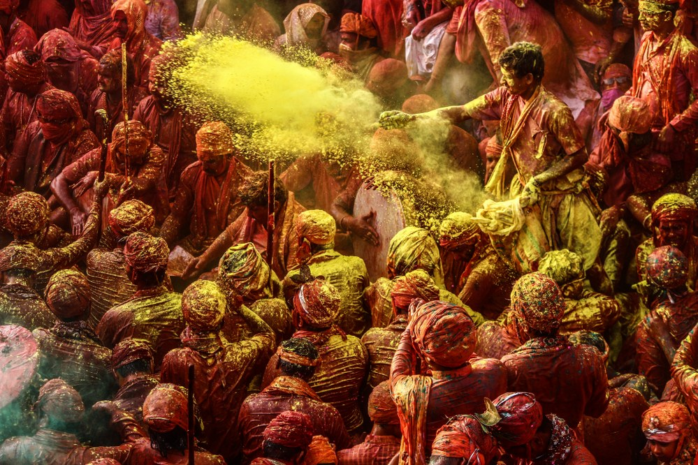 Holi festival in India - powder