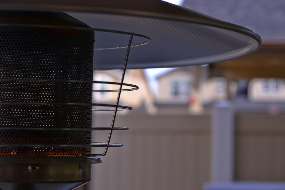 autumn garden: patio heater