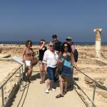 group at archaeological site in Paphos