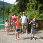 parents and children at Lake Barcis