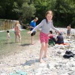 child playing at Lake Barcis