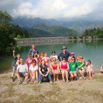 single parent family group at Lake Barcis