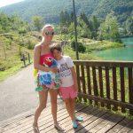 single mum with child at Lake Barcis