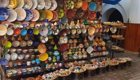 Marrakech souk crockery