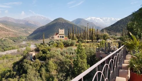 view of Atlas Mountains in Morocco