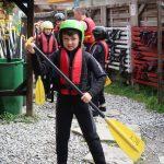 child rafting