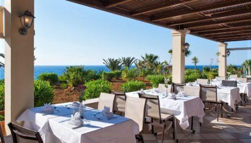 restaurant at the Iberostar Creta Panorama Hotel