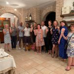 wine tasting on single parent farm holiday in Italy