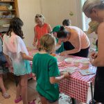 cooking class on single parent farm holiday in Italy