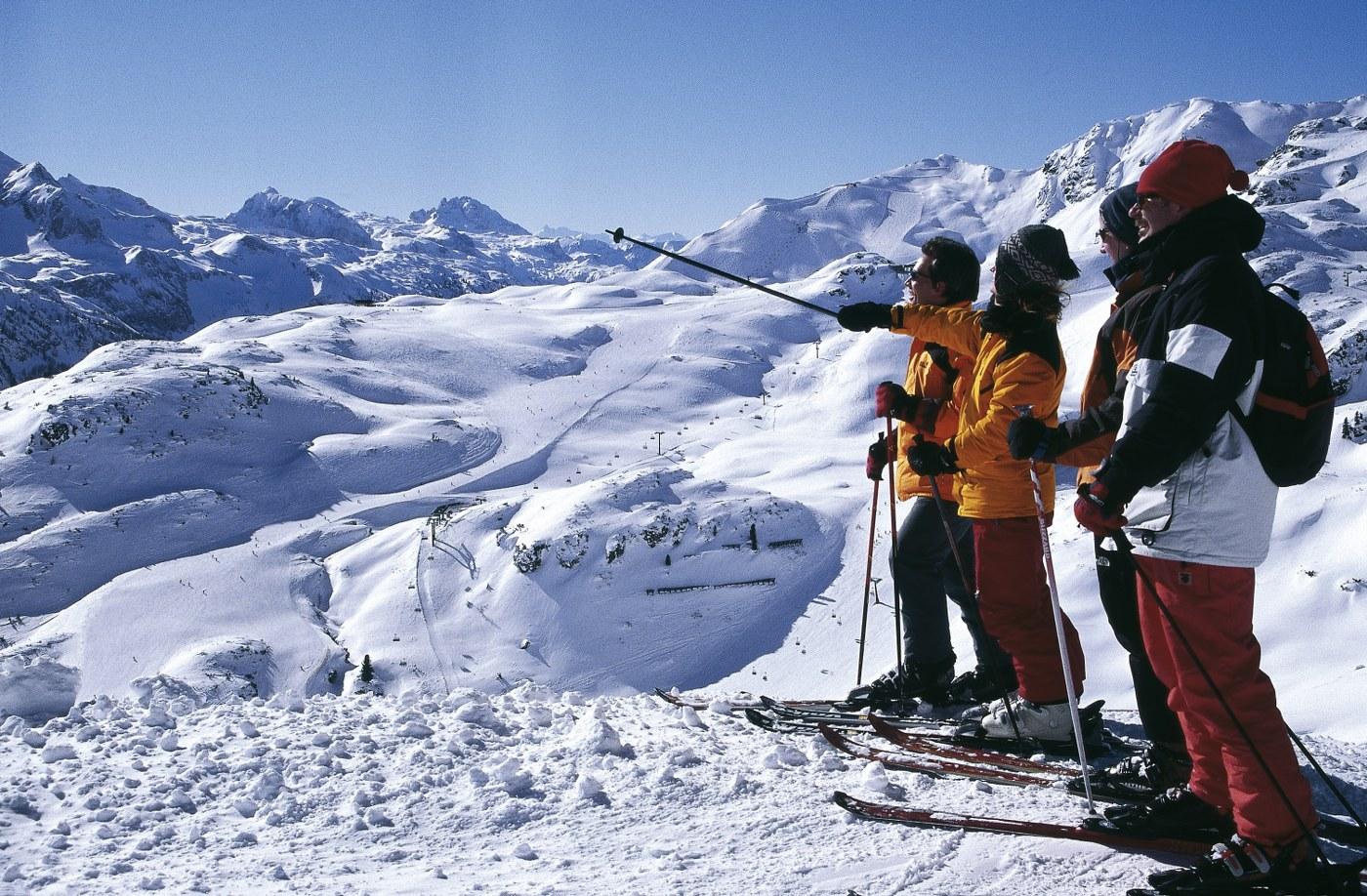 singles ski holiday in Obertauern