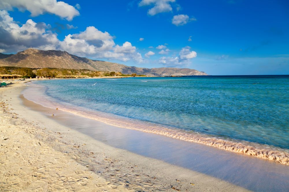 Elafionisi beach on Greek island of Crete
