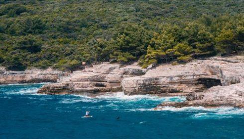 Istrian coast in Croatia
