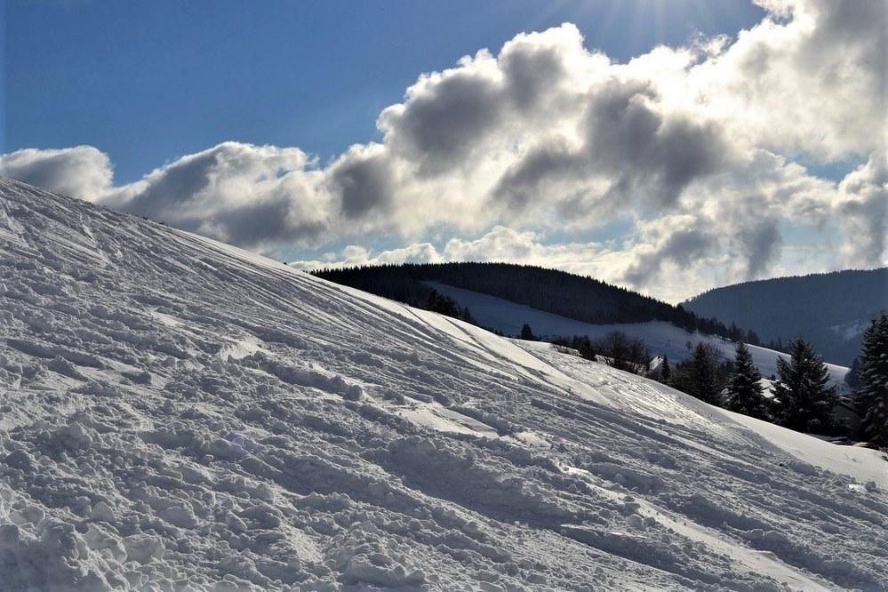 slushy snow conditions in spring