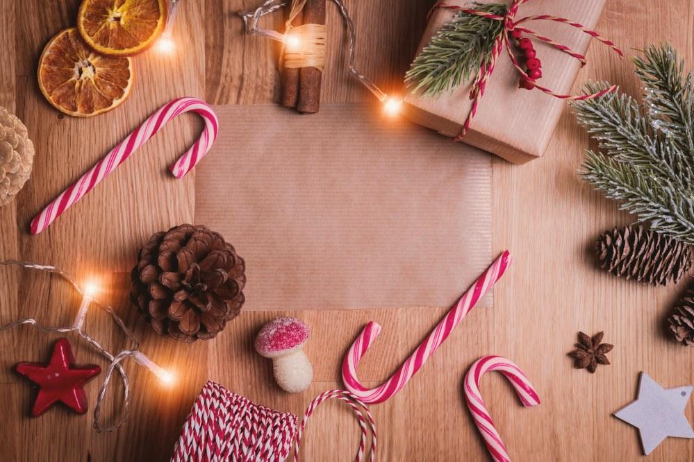 christmas decorations including candy sticks