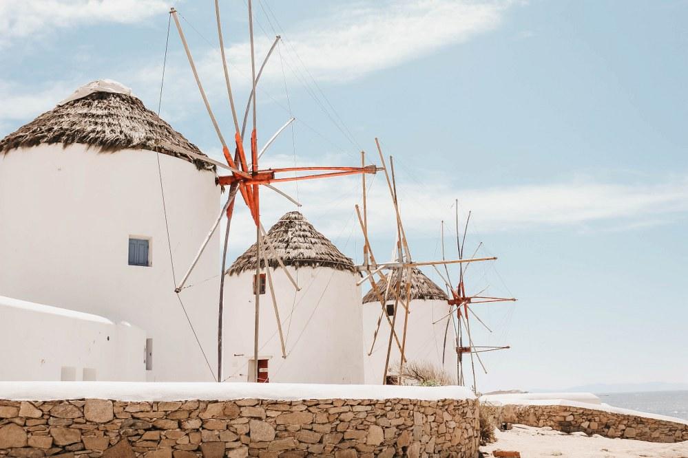 windmills on Mykonos island