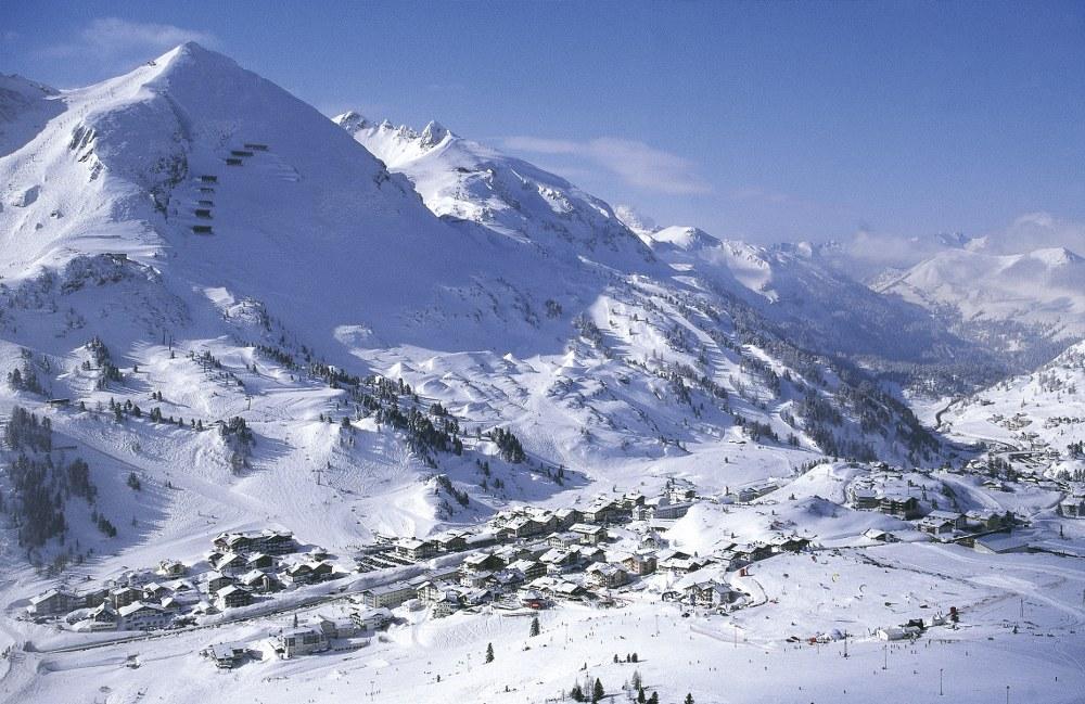 Obertauern village in winter