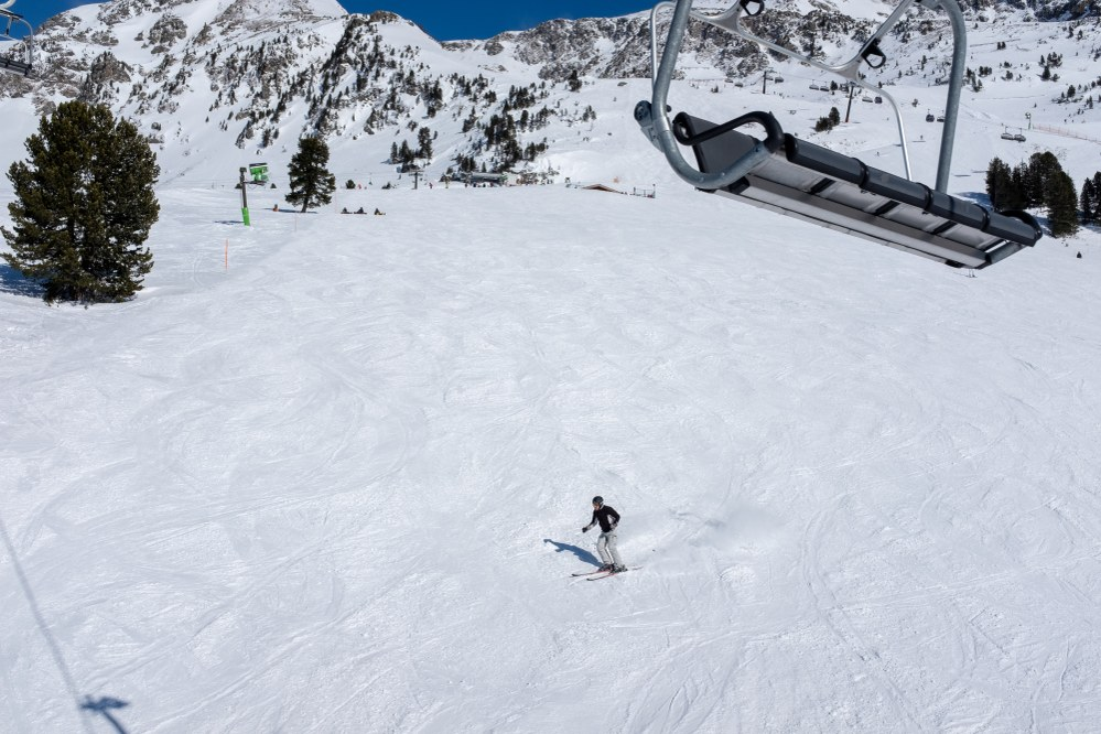 empty slopes - great reasons to try skiing in your 50s and 60s