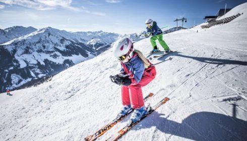 children skiing in Ziller Valley
