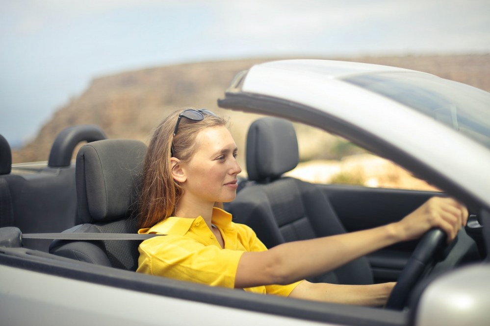 young woman driver - car insurance
